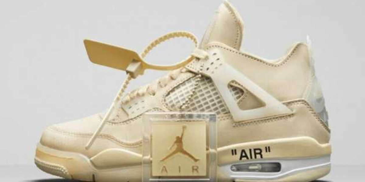 """Do you also want to bring a pair of Off-White x Air Jordan 4 """"Sail"""" to support public welfare?"""